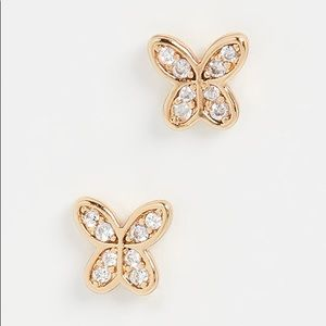 🍀🍀Kate Spade Mini Buttefly Pave Earrings